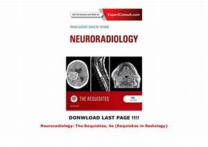 Neuroradiology  The Requisites  4e  Requisites In Radiology