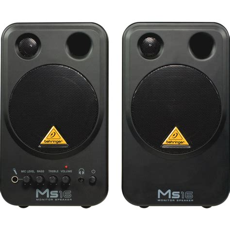 behringer ms16 powered studio monitor speakers belfield