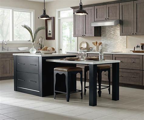 white cabinets   dark wood kitchen island masterbrand