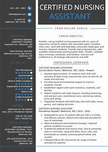 Nursing Home Nurse Resume Certified Nursing Assistant Cna Resume Sample Writing