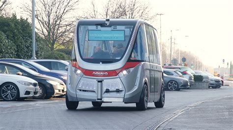 Navya Driverless Bus Makes Uk Debut At Heathrow Airport
