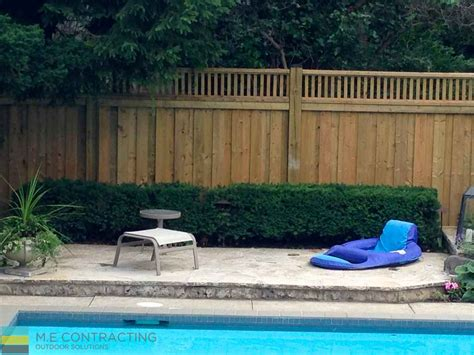 privacy fence for pool interlocking pool deck with privacy fence toronto landscaping deck building company