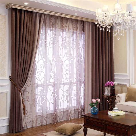 bedroom  living room chenille blackout curtains drapes