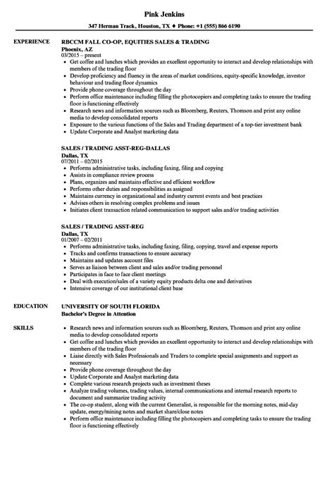 sales and trading resume annecarolynbird
