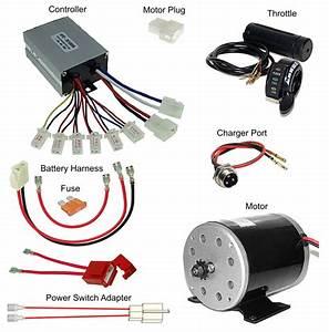 36 Volt Throttle  Controller  Motor  Battery Pack Wiring