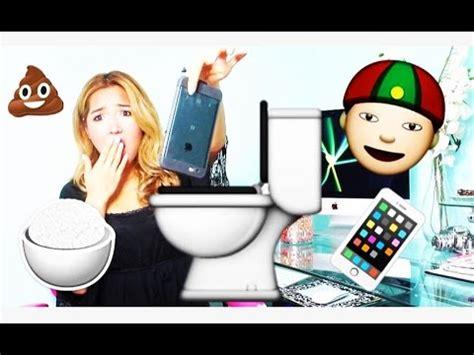 mon iphone est 233 dans le bol de toilette