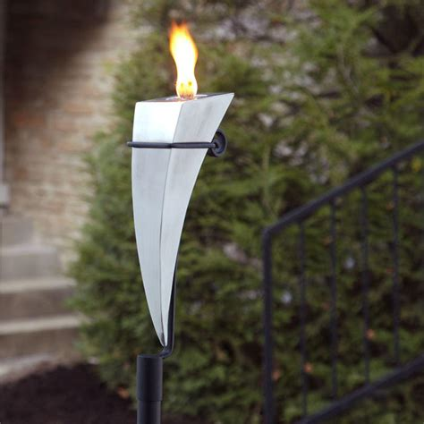 stainless steel garden large etched stainless steel garden torch traditional yard stake stainless steel outdoor