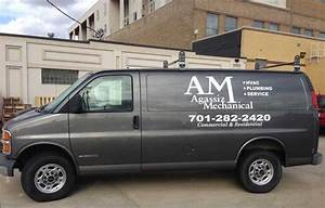 full color vinyl lettering and vehicle graphics frosted With custom van lettering