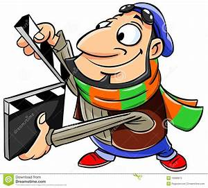 Movie clipart film director - Pencil and in color movie ...