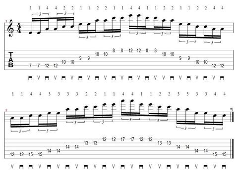 Bench Press Combine Record by Sweep Picking Lessons Guitar Pro Tab