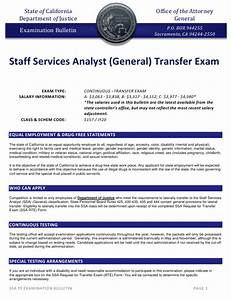 State Of California Staff Services Analyst Exam
