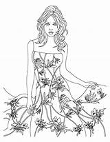 Coloring Wear Template Floral Theme Pages Costume Sheet Designs Books sketch template