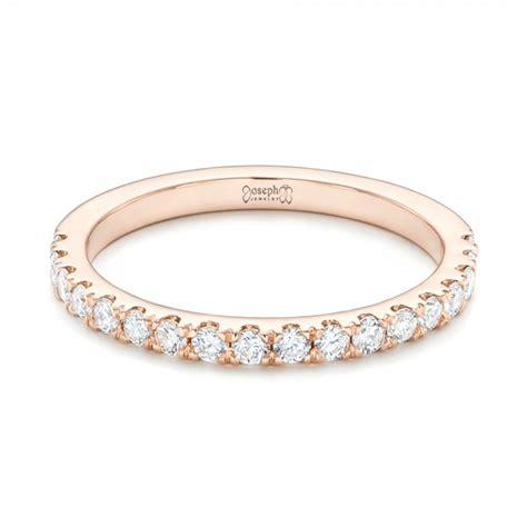 custom rose gold diamond wedding band 102935