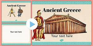Ancient greece themed powerpoint template ancient for Ancient greece powerpoint template