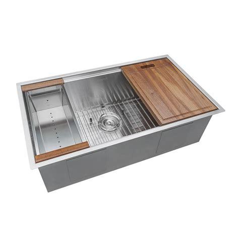 home depot kitchen sink accessories ruvati 32 in single bowl undermount 16 gauge stainless