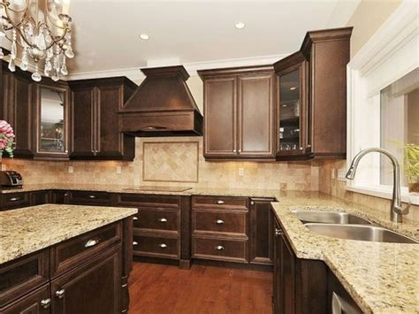 Let's return back to marble again. Traditional Kitchen. love the chocolate brown! | Home ...