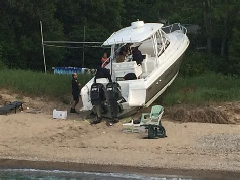 Boat Crash This Weekend by Blackburnnews Boat Crashes Into Shore Near Canatara