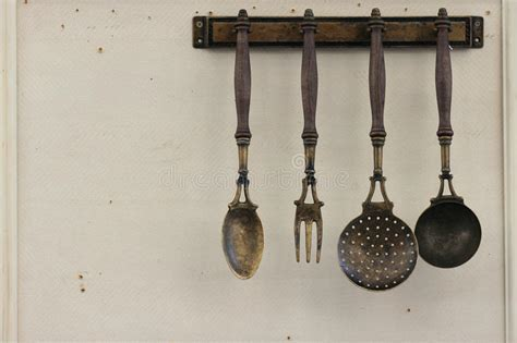 Vintage Kitchen Utensils Stock Photo   Image: 36147070