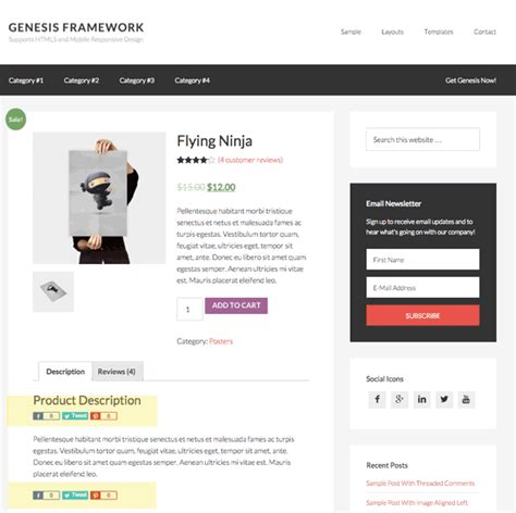 change template page simple product woocommerce genesis simple share in woocommerce products shop page