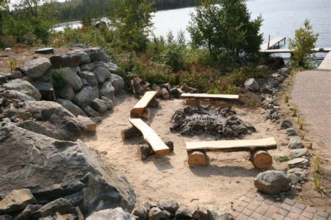 outdoor pit areas image detail for fire pit area of blue heron lodge lake vermilion private cabin rental fire