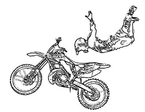 preschool printables  dirt bike coloring pages