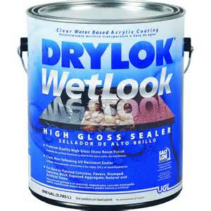 drylok wetlook high gloss concrete sealer ebay