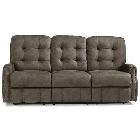power reclining sofa with usb ports flexsteel devon button tufted power reclining sofa with