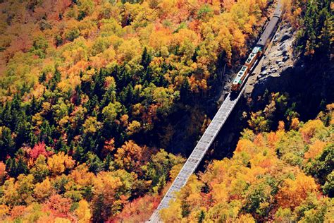 conway scenic railroad  wonders  fall  england today