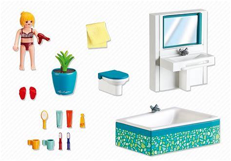 acheter playmobil maison  salle de bain avec baignoire