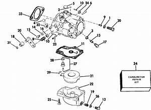 Evinrude Carburetor Parts For 1984 50hp E50belcrm Outboard