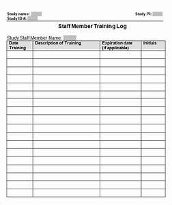 training log template 8 download free documents in pdf doc With training record template in excel