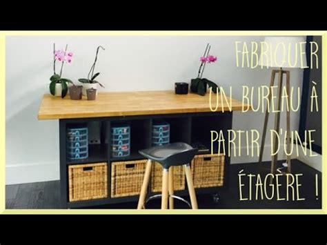 bureau etagere diy fabriquer un bureau à partir d 39 une étagère