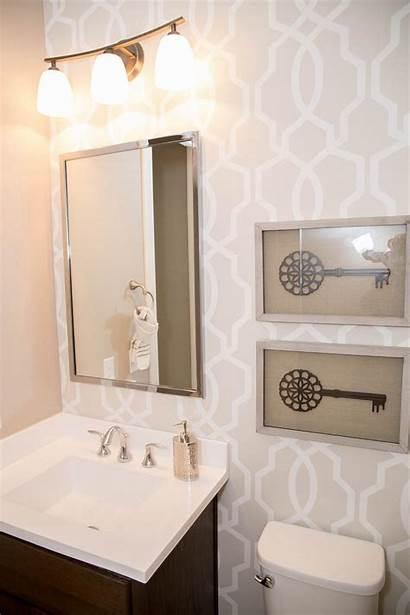 Bathroom Hgtv Graphic Neutral Wall Accent Chic