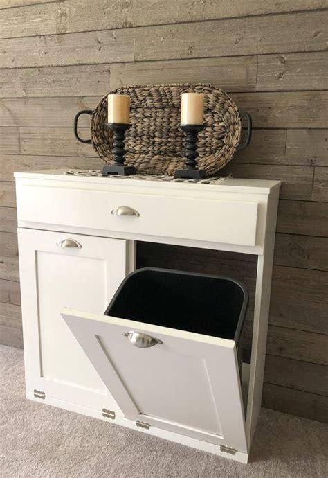 tilt  double bin   drawer white  draw    trash bins laundry hamper