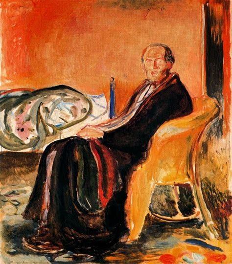 edvard munch  portrait  spanish influenza