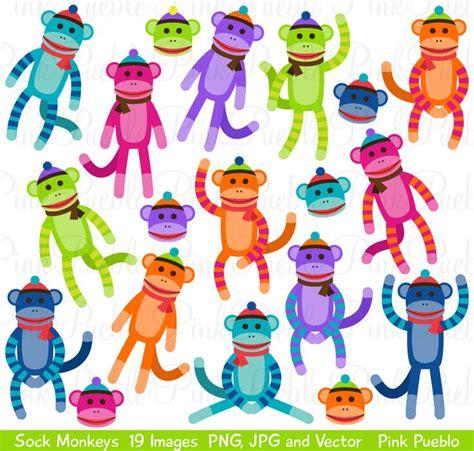 sock monkey clipart  vectors clip art sock monkey