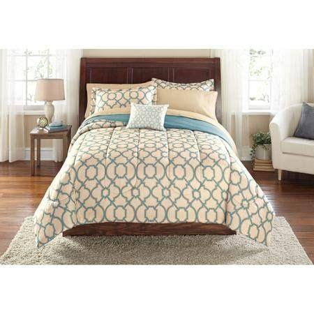 mainstays fretwork bed   bag bedding set queen bed