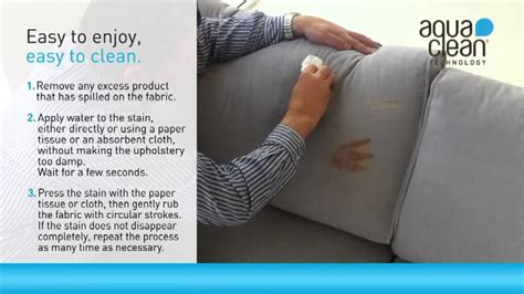 sofa fabric easy to clean aquaclean real time cleaning english youtube
