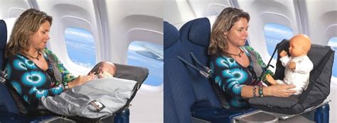 babystoel test slapen in het vliegtuig met de deryan air traveller