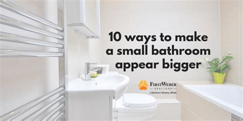How To Make A Small Bathroom Appear Larger by 10 Ways To Make A Small Bathroom Appear Bigger