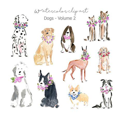 dog art watercolor dog clip art dog breeds clipart dog