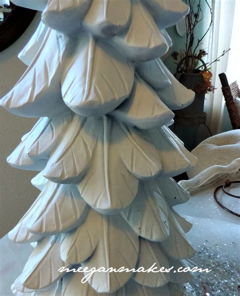 can you spray paint xmas tree white thrifted tree and magazine feature