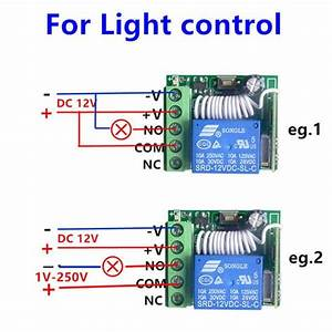 315 Mhz Receiver Wireless Rf Remote Control Switch Dc12v 10a 1ch Relay  Diy Module For