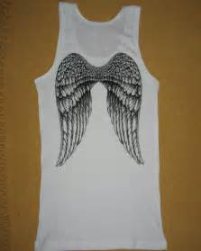 White Angel Wing with Tattoo