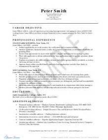 sle loan officer resume free resume templates