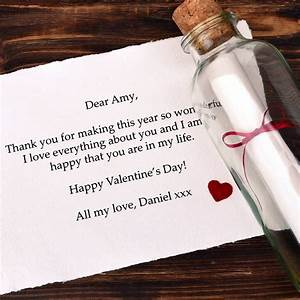 personalised message valentines gift messages bottle With message in a bottle love letter