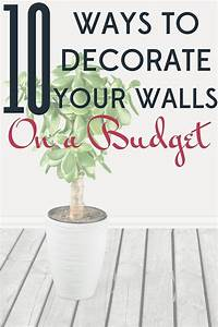330 best frugal home decorating and remodeling images on With ways to decorate your walls