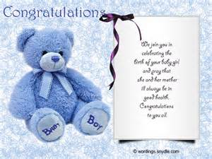 Congratulations On New Baby Boy Message