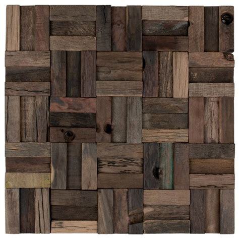 reclaimed wood tile 12 best images about wood mosaic tiles on
