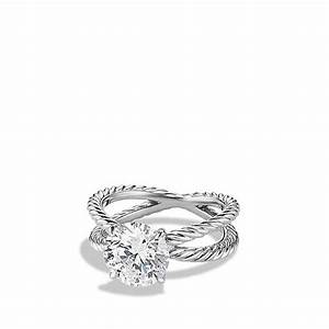 dy crossover engagement ring in platinum from david yurman With david yurman wedding ring